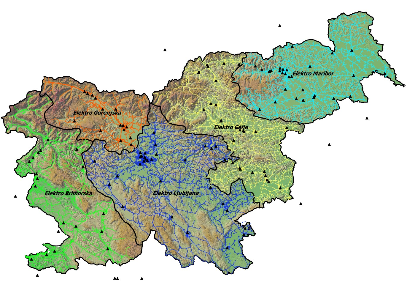 MV distribution network analyses (10 kV and 20 kV) in Slovenia in 2015