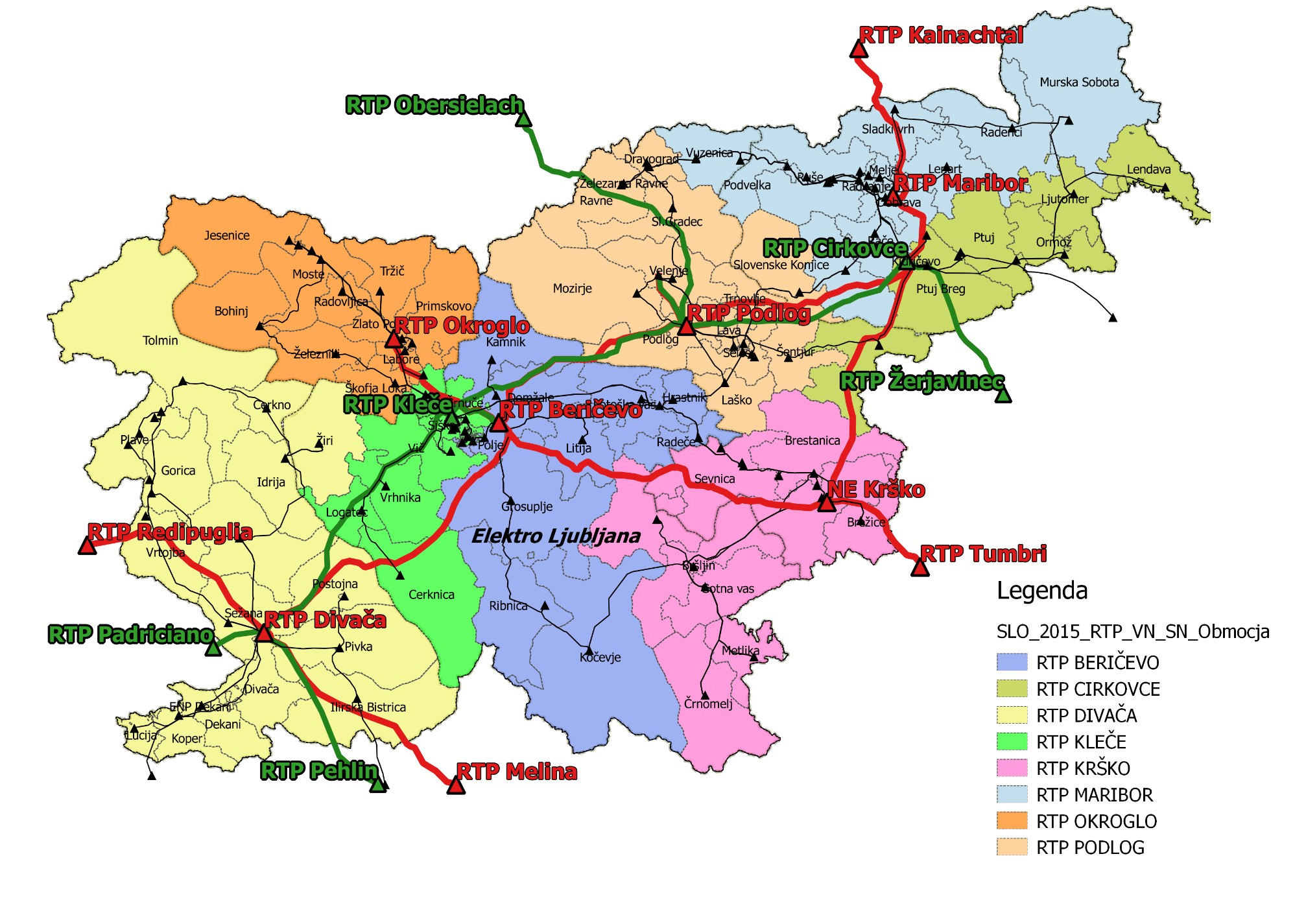 HV network analyses with 400–220–110 kV substations in Slovenia