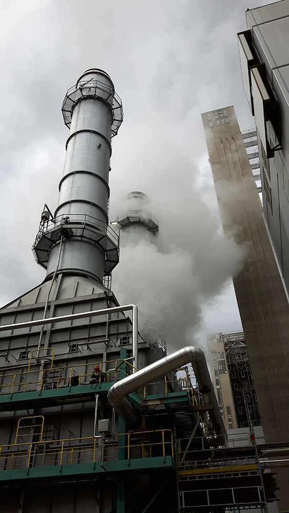 Emission of steam from gas turbines at Šoštanj Thermal Power Plant