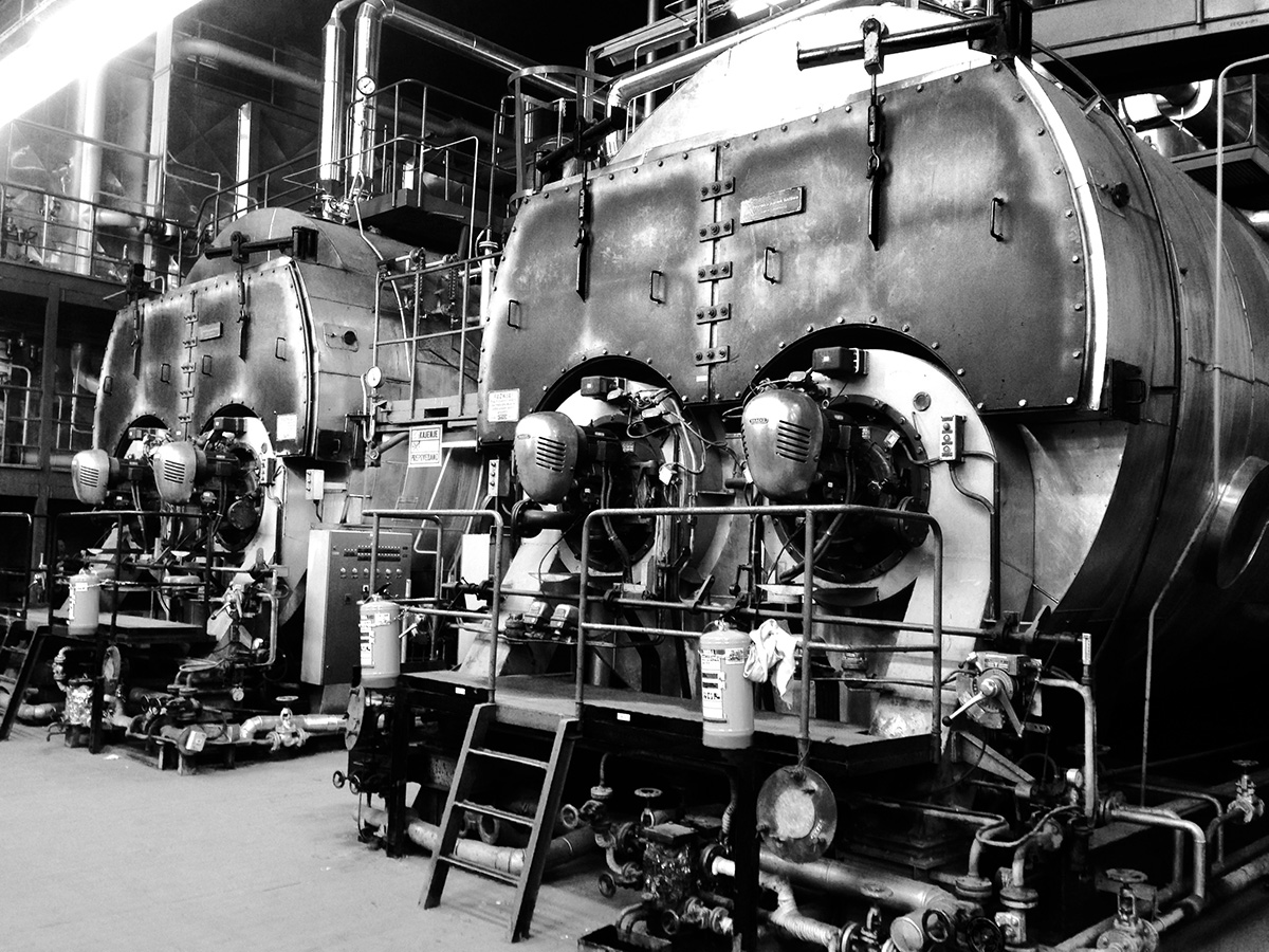 Hot water boilers at Toplarna Ljubljana Thermal Power Plant