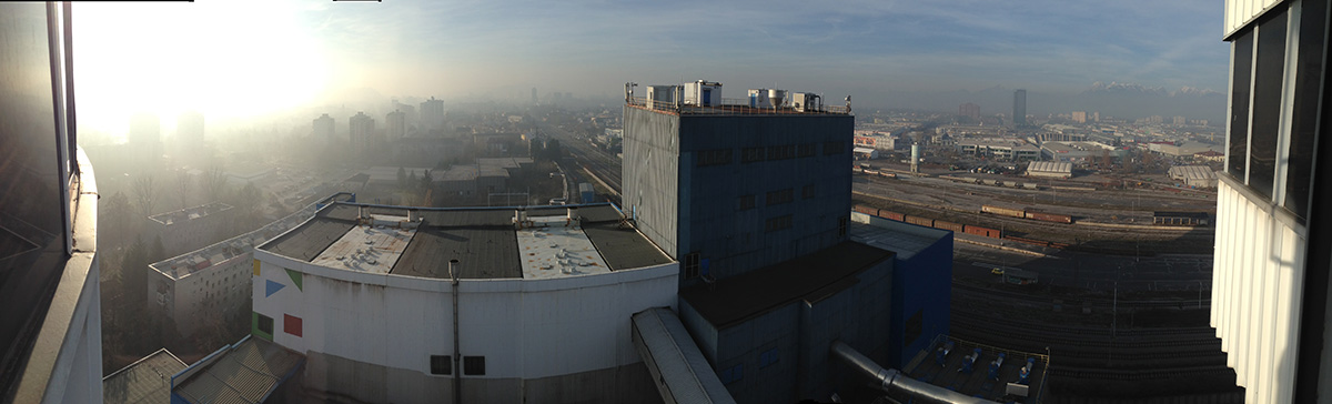 Panoramic view from the chimney of the Toplarna Ljubljana Thermal Power Plant