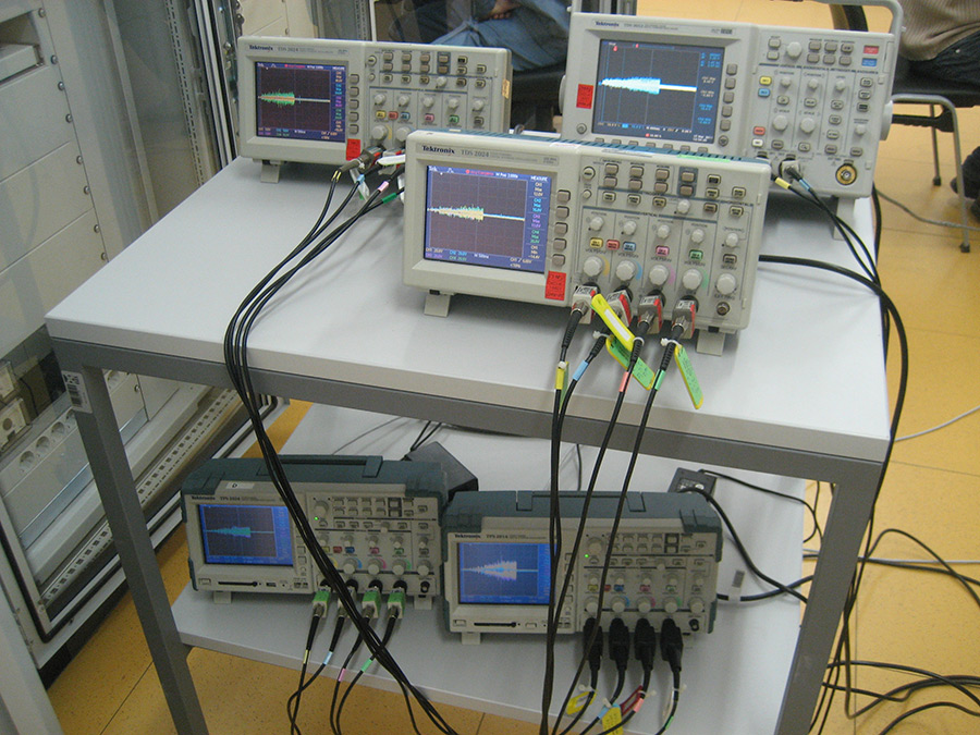 EMC measurements on secondary equipment at switching manipulations in a transformer station